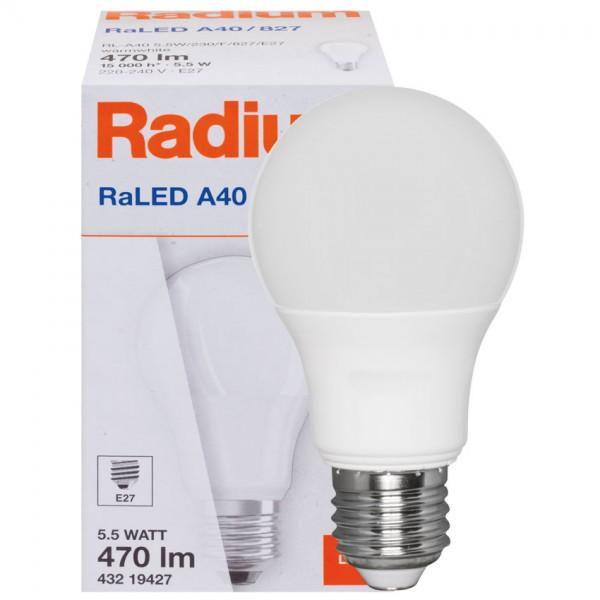 LED Leuchtmittel AGL-Form matt, 5,5W, 470lm, 15.000h
