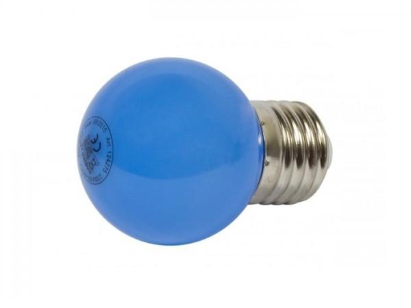 LED G45 Tropfenlampe 1W E27 230V Kunststoff ideal für Lichterketten - blau