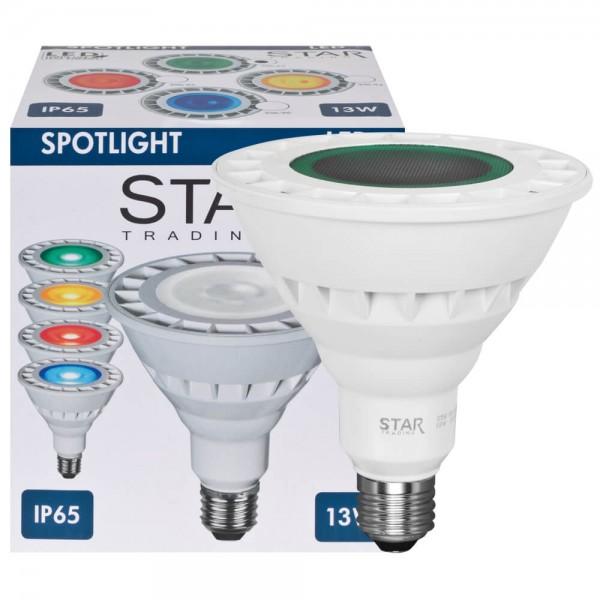 LED PAR38 Leuchtmittel IP65 13W Grün