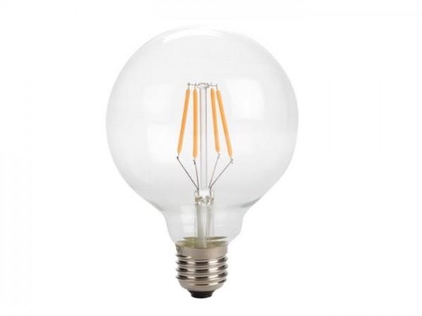 LED Retro-Lampe T95 4W 2200K 230V E27 Kristalglas klar