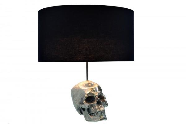 Tischleuchte Skull Silber