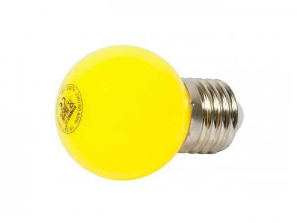 LED G45 Tropfenlampe 1W E27 230V Kunststoff ideal für Lichterketten - gelb