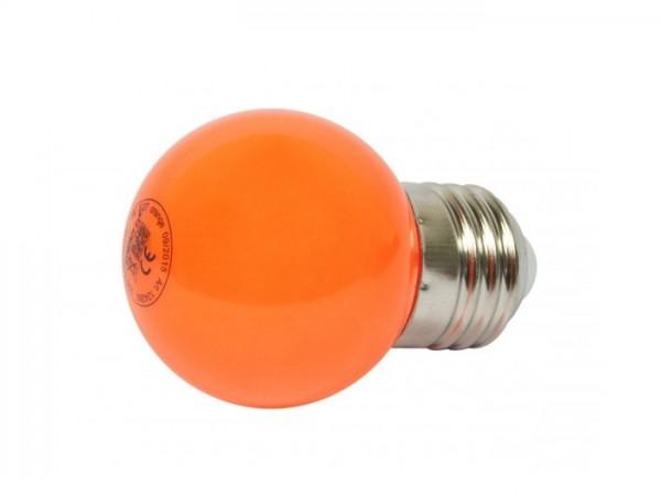 LED G45 Tropfenlampe 1W E27 230V Kunststoff ideal für Lichterketten - orange