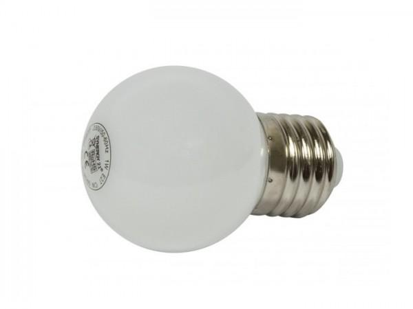 LED G45 Tropfenlampe 1W E27 230V Kunststoff ideal für Lichterketten - kaltweiss
